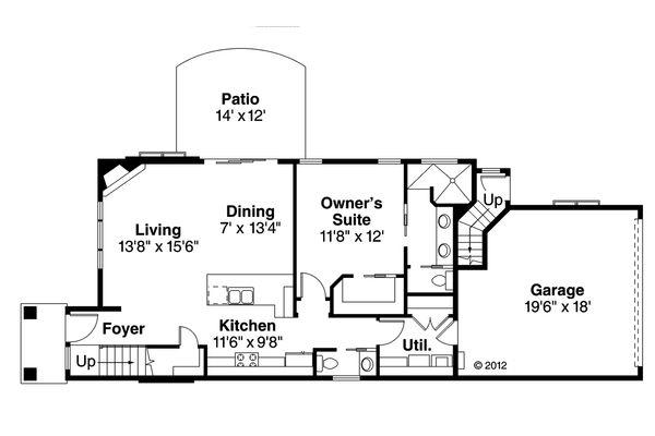 Contemporary Floor Plan - Main Floor Plan Plan #124-1131