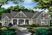Craftsman Style House Plan - 4 Beds 3 Baths 2239 Sq/Ft Plan #929-1025 Exterior - Front Elevation