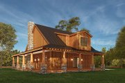 Craftsman Style House Plan - 3 Beds 2.5 Baths 2006 Sq/Ft Plan #923-178 Exterior - Rear Elevation