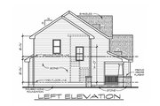 Craftsman Style House Plan - 4 Beds 3 Baths 2195 Sq/Ft Plan #20-2400 Exterior - Other Elevation