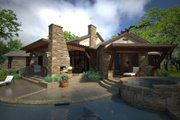 Country Style House Plan - 3 Beds 2.5 Baths 2352 Sq/Ft Plan #120-192 Exterior - Rear Elevation