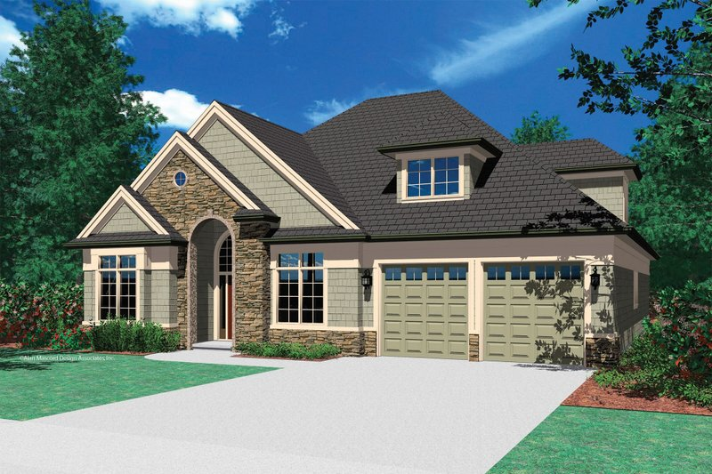 Dream House Plan - European Exterior - Front Elevation Plan #48-384