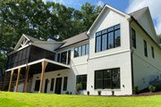 Modern Style House Plan - 4 Beds 4.5 Baths 3794 Sq/Ft Plan #437-108 Exterior - Rear Elevation