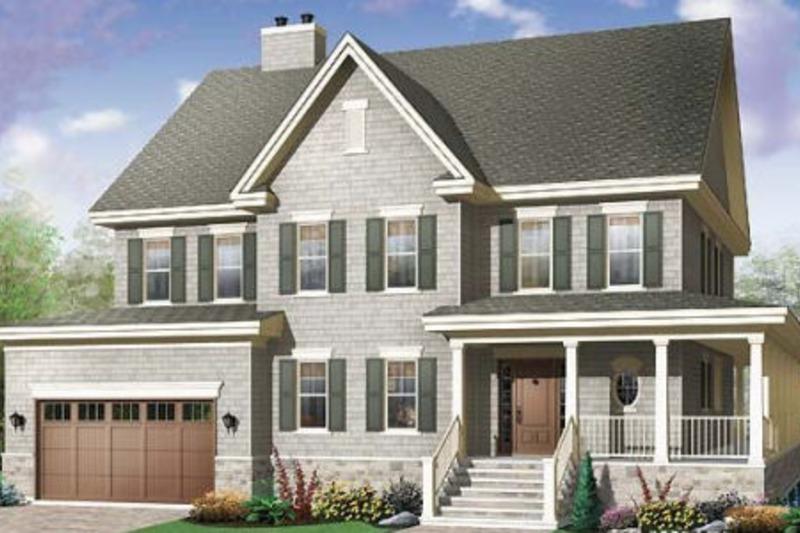 Farmhouse Exterior - Front Elevation Plan #23-669 - Houseplans.com