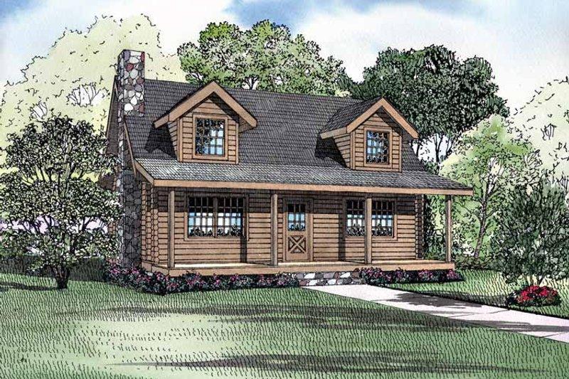 Log Exterior - Front Elevation Plan #17-3072