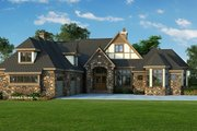 Tudor Style House Plan - 4 Beds 4.5 Baths 3983 Sq/Ft Plan #929-947