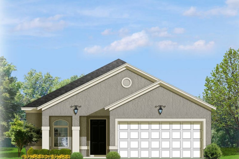 Architectural House Design - Adobe / Southwestern Exterior - Front Elevation Plan #1058-95