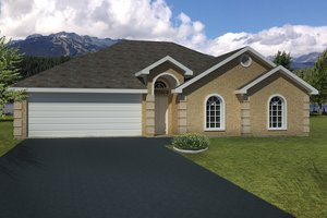 Home Plan - Adobe / Southwestern Exterior - Front Elevation Plan #1061-21