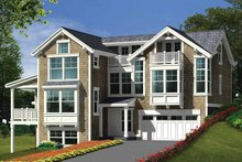 Dream House Plan - Craftsman Exterior - Front Elevation Plan #132-276