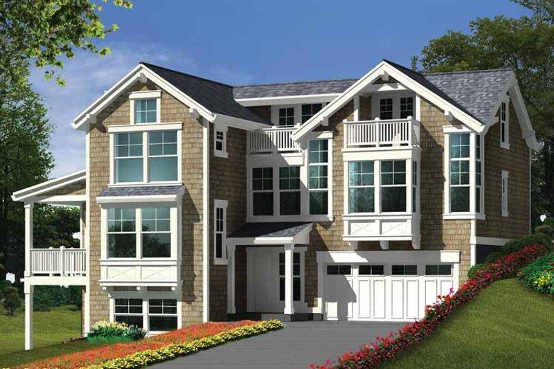 Craftsman Exterior - Front Elevation Plan #132-276 - Houseplans.com
