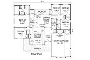 Ranch Style House Plan - 4 Beds 2.5 Baths 2265 Sq/Ft Plan #513-2170 Floor Plan - Main Floor Plan