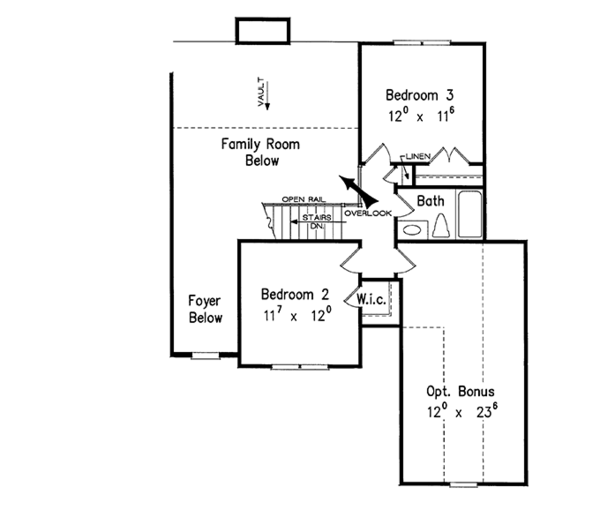 House Design - Traditional Floor Plan - Upper Floor Plan #927-245