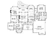 Craftsman Style House Plan - 4 Beds 3 Baths 2557 Sq/Ft Plan #929-997 Floor Plan - Main Floor