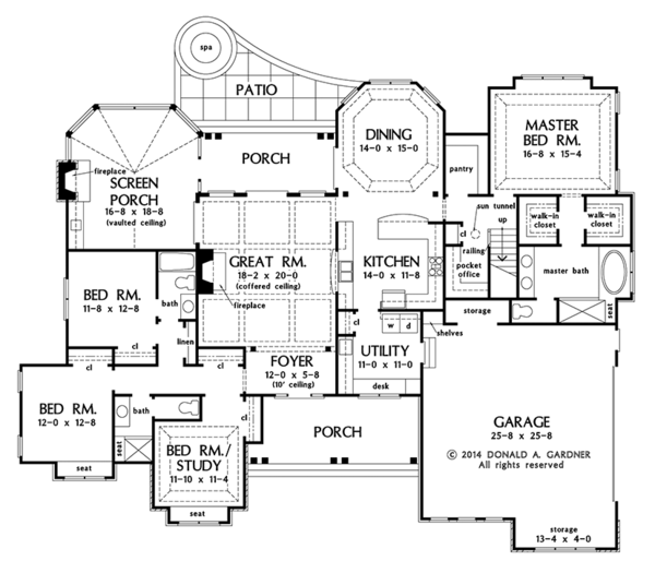 Craftsman Floor Plan - Main Floor Plan Plan #929-997