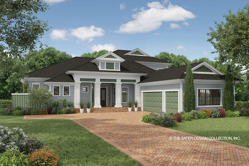 Country Style House Plan - 3 Beds 4 Baths 3397 Sq/Ft Plan #930-474 Exterior - Front Elevation