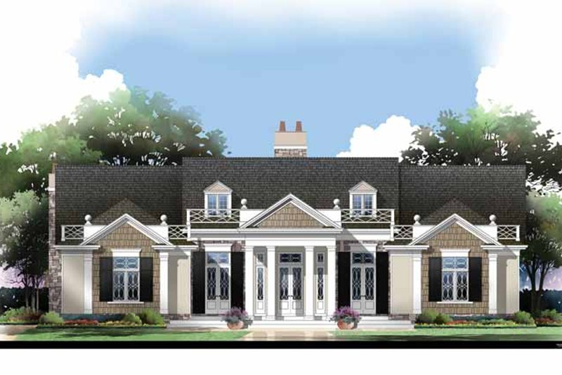Colonial Exterior - Front Elevation Plan #119-410