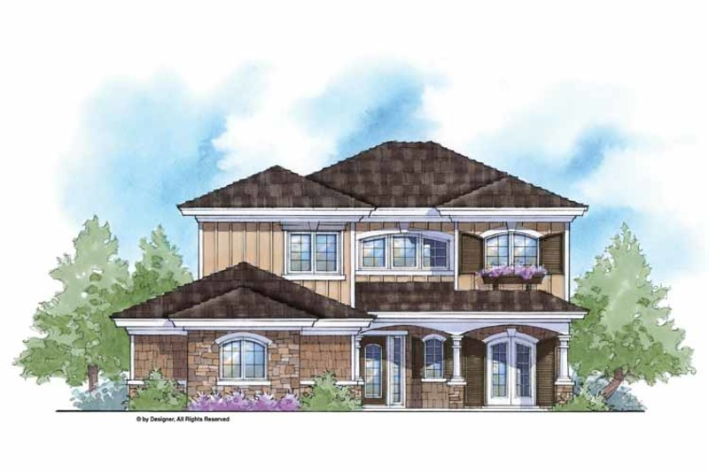 Country Exterior - Front Elevation Plan #938-17 - Houseplans.com