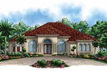 Architectural House Design - Mediterranean Exterior - Front Elevation Plan #1017-143