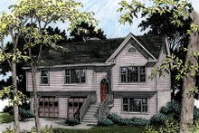Architectural House Design - Traditional Exterior - Front Elevation Plan #56-123
