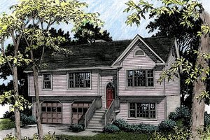 Traditional Exterior - Front Elevation Plan #56-123