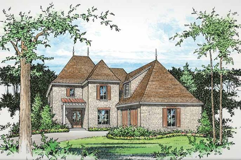 Country Exterior - Front Elevation Plan #15-392 - Houseplans.com