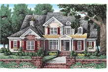 House Design - Colonial Exterior - Front Elevation Plan #927-914