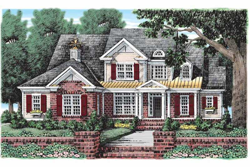 Colonial Exterior - Front Elevation Plan #927-914