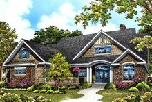 European Exterior - Front Elevation Plan #929-967