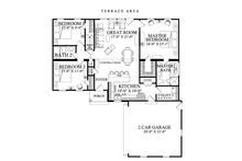 Ranch Floor Plan - Main Floor Plan Plan #137-364