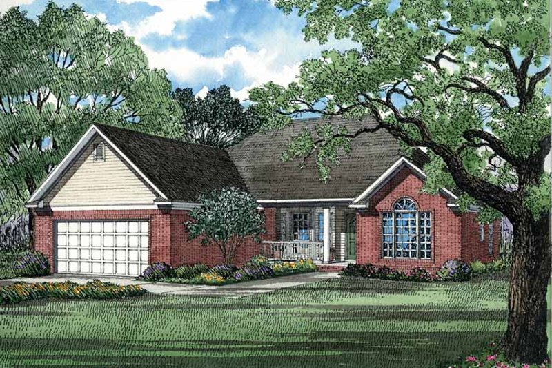 Ranch Exterior - Front Elevation Plan #17-2637