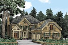 European Exterior - Front Elevation Plan #927-362