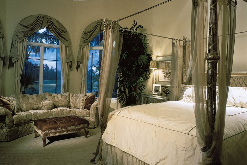 Mediterranean Interior - Master Bedroom Plan #930-15 - Houseplans.com