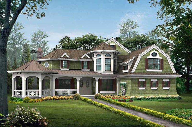 Craftsman Exterior - Front Elevation Plan #132-458 - Houseplans.com