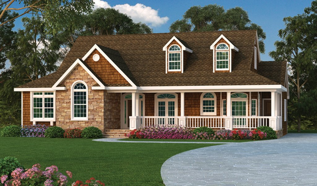 Ranch style house plan 3 beds 2 baths 2028 sq ft plan for Rambler house vs ranch house