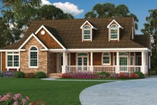 Dream House Plan - Ranch Exterior - Front Elevation Plan #314-292
