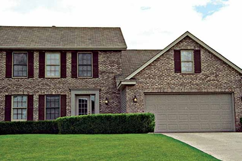 Dream House Plan - Colonial Exterior - Front Elevation Plan #51-802