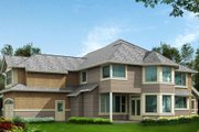 Craftsman Style House Plan - 4 Beds 3.5 Baths 4100 Sq/Ft Plan #132-162 Exterior - Rear Elevation