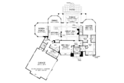 Craftsman Style House Plan - 4 Beds 3 Baths 2498 Sq/Ft Plan #929-973 Floor Plan - Main Floor