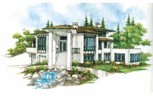 Prairie Exterior - Front Elevation Plan #509-429