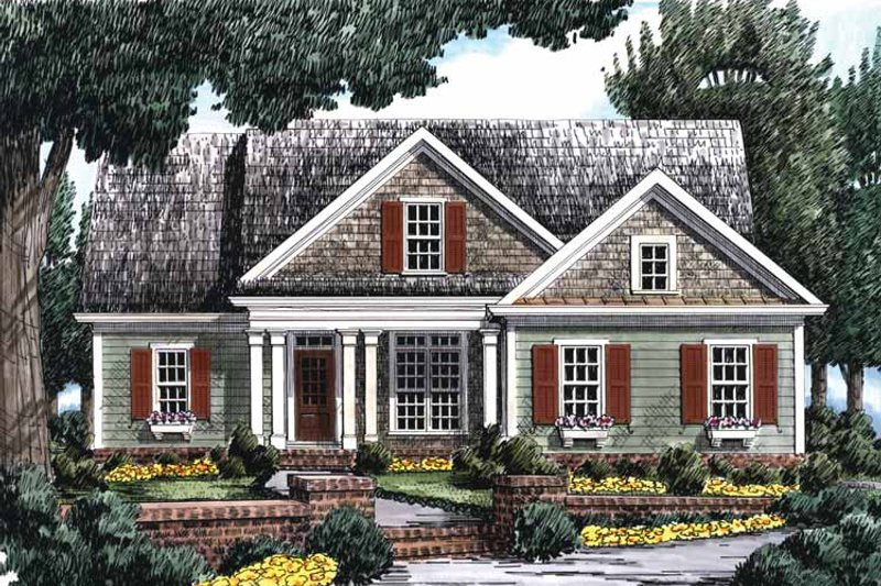 Country Exterior - Front Elevation Plan #927-698 - Houseplans.com