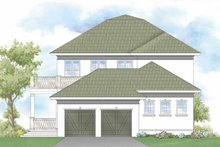Southern Exterior - Rear Elevation Plan #930-404