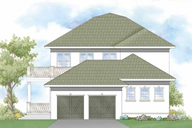Southern Exterior - Rear Elevation Plan #930-404 - Houseplans.com