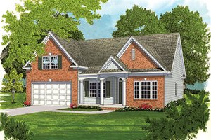 House Design - Ranch Exterior - Front Elevation Plan #453-631