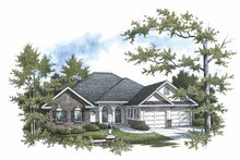 House Plan Design - European Exterior - Front Elevation Plan #14-272