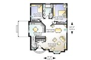 Cottage Style House Plan - 2 Beds 1 Baths 1191 Sq/Ft Plan #23-110 Floor Plan - Main Floor