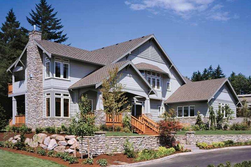 Craftsman Exterior - Front Elevation Plan #48-150