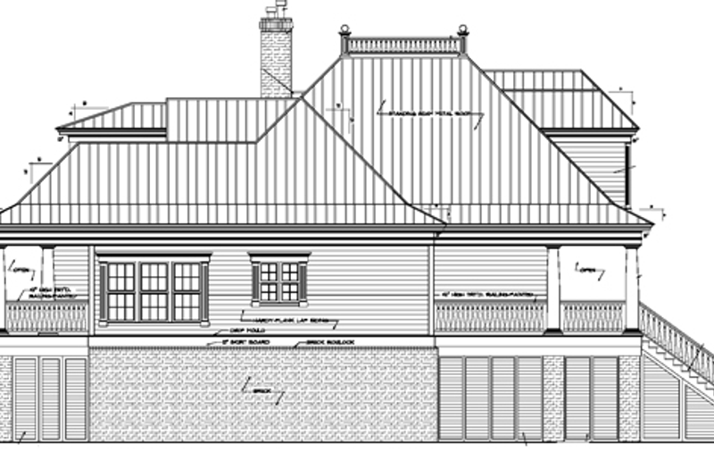 Country Exterior - Other Elevation Plan #37-267 - Houseplans.com