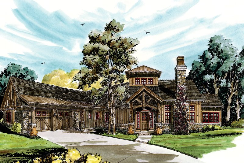 Architectural House Design - Ranch Exterior - Front Elevation Plan #942-31