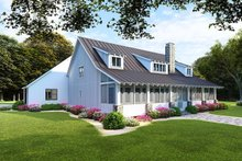 Farmhouse Exterior - Rear Elevation Plan #923-107