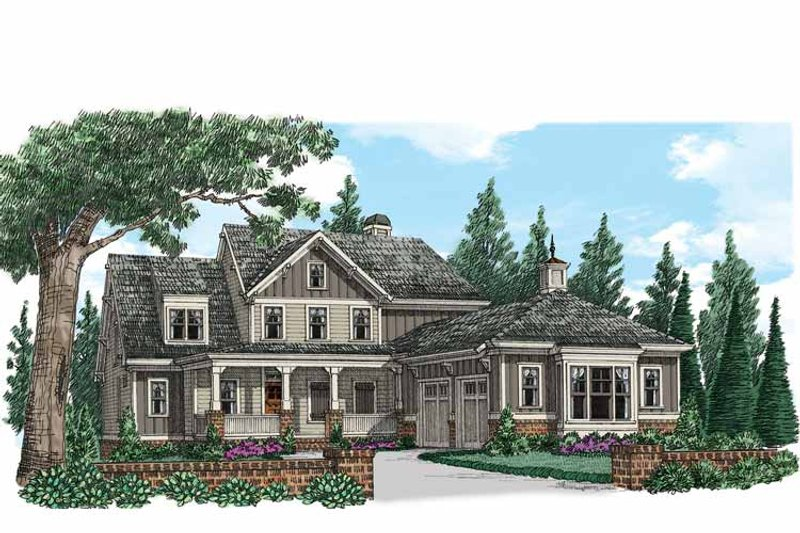 Country Exterior - Front Elevation Plan #927-939 - Houseplans.com